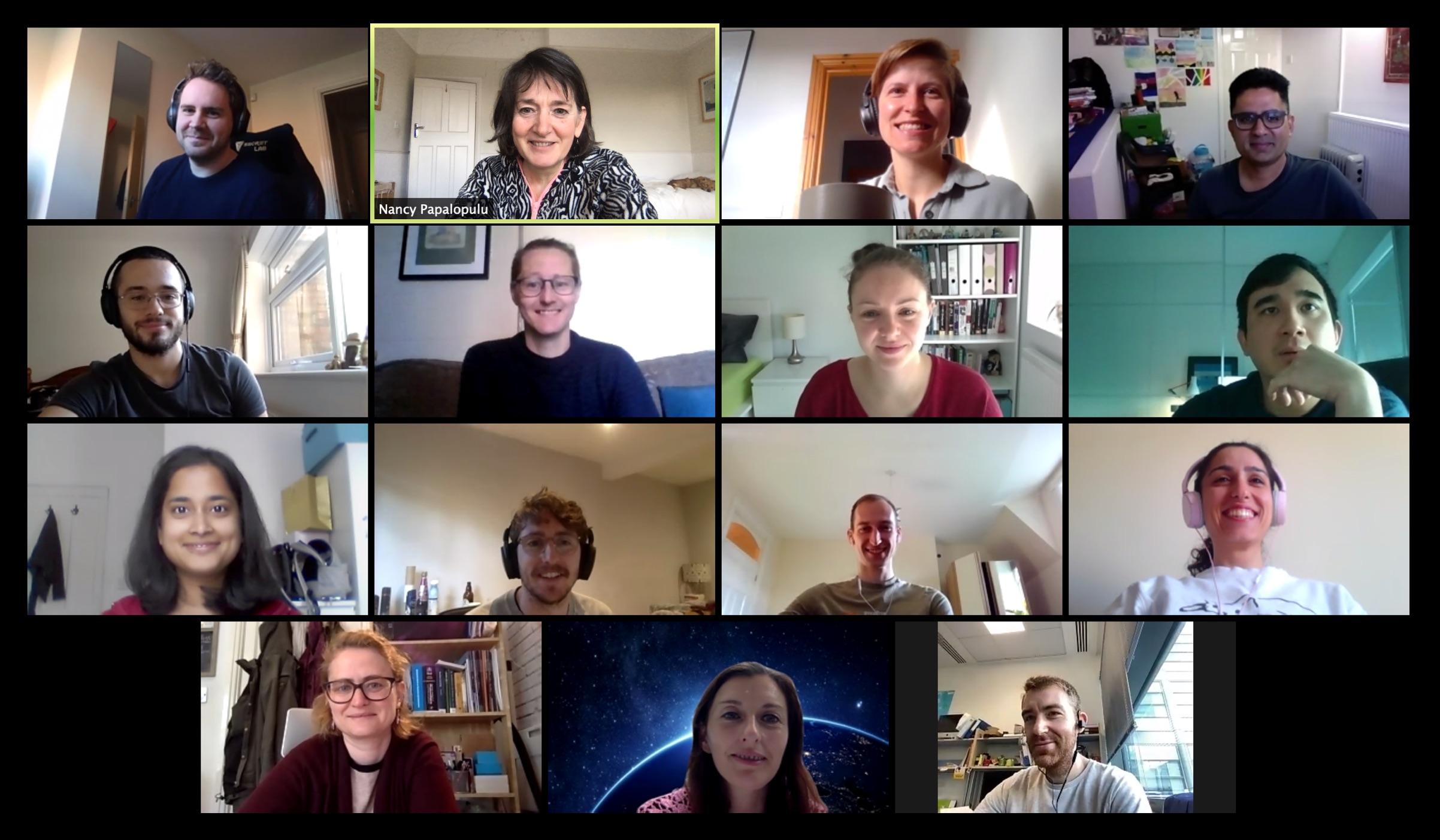 Papalopulu lab members on zoom